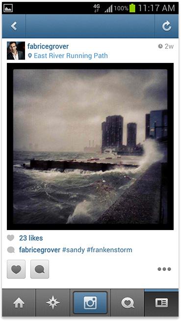#sandy #frankenstorm instagram hurricane photo